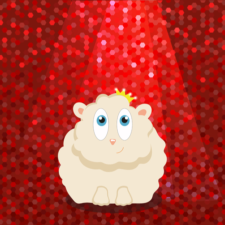 sheep in the crown under the bright lights . vector