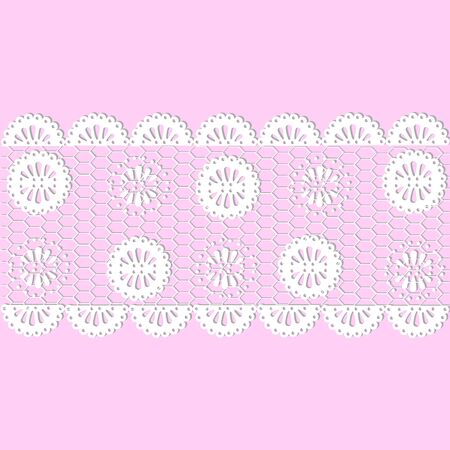 horizontal lace with a floral pattern. vector Vettoriali
