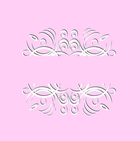 beautiful vintage paper pattern on a pink background