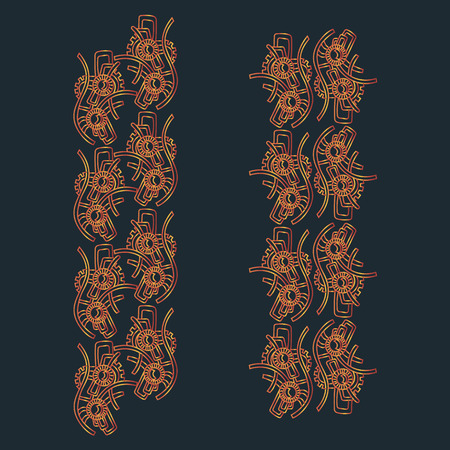 vertical pattern in the style of steam punk