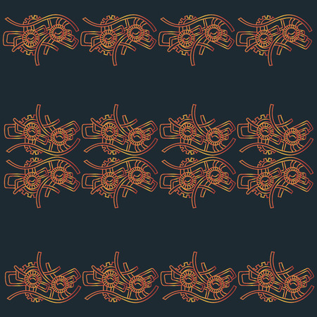 horizontal pattern in the style of steam punk
