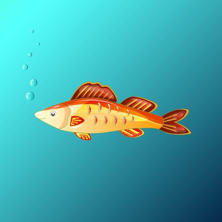 beautiful fairy goldfish grants wishes Illustration
