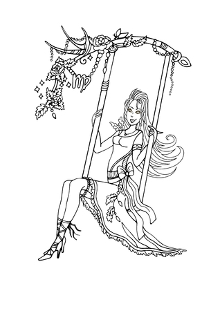 contagious: Virgo on a swing and contagious laugh