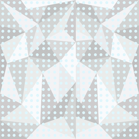 three-dimensional polygonal pattern with peas , circles