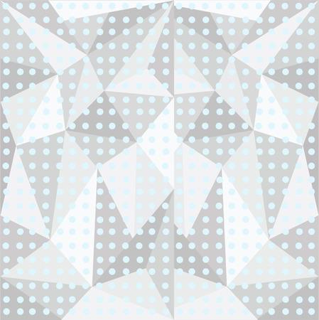 leaden: three-dimensional polygonal pattern with peas , circles