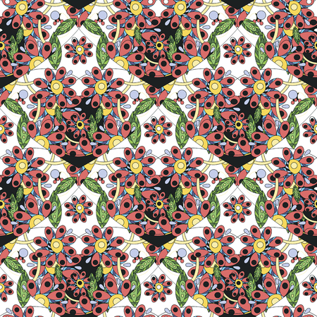 Seamless pattern with colorful hearts. - Vector illustration 向量圖像