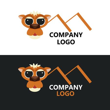 Modern business logo camel vector illustration