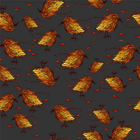 Mooie naadloze patroon met vogels. Vector illustratie.