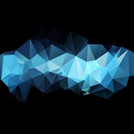 Abstract triangular blue background with polygonal shapes. Vector illustration. Çizim