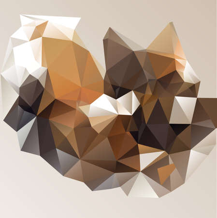 Abstract triangular caramel background with polygonal shapes. Vector illustration. Çizim