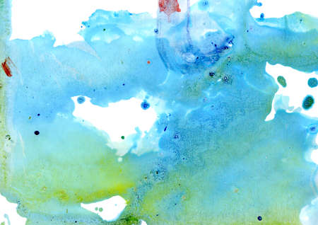 monotype: Imitation of blue and green minerals by oil paint. Monotype technique.