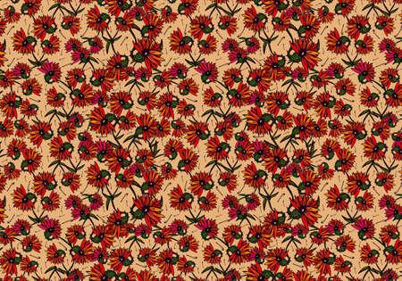 patrones de flores: Fondo floral con estilo. Foto de archivo
