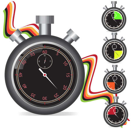 Stopwatch set  Stock Vector - 16185163