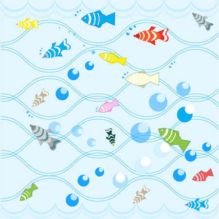Cartoon fish. Vector