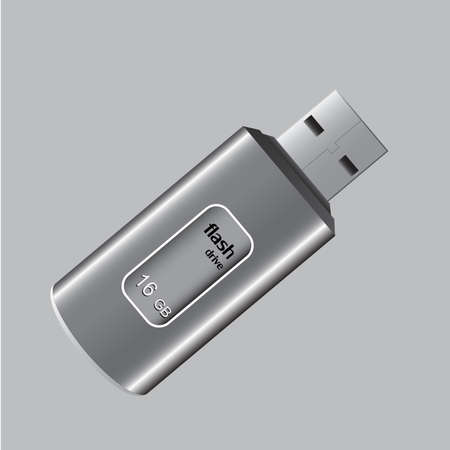 flash drive: USB Flash Drive. Illustration