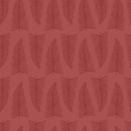 Feathers seamless pattern. Red colors. Vector stock illustration. Ilustracja