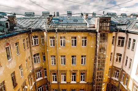 house and roof in the centre of St. Petersburg