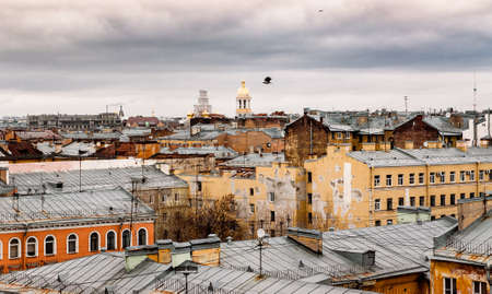 houses and roofs in the centre of St. Petersburg