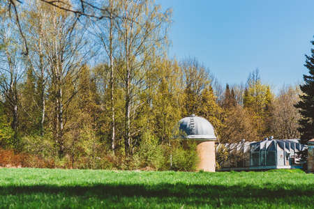 An abandoned research station in the forest. Astronomical Observatory of the Academy of Sciences