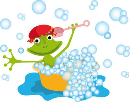 Vektor illustration with a frog for your design Illustration