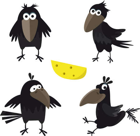 Cute crow seamless pattern vector image for your design