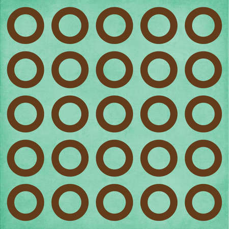 Whimsical Brown Circles on Teal Background