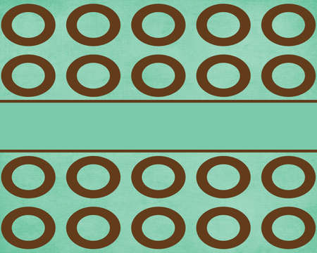Brown Retro Dots Background Template