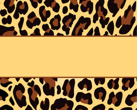 Leopard Print Background Template