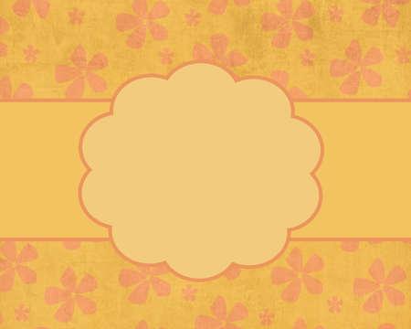 Summer Flowers Card Template Stok Fotoğraf