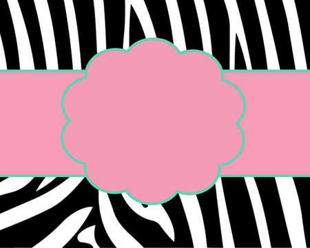 Zebra Print Card Template photo