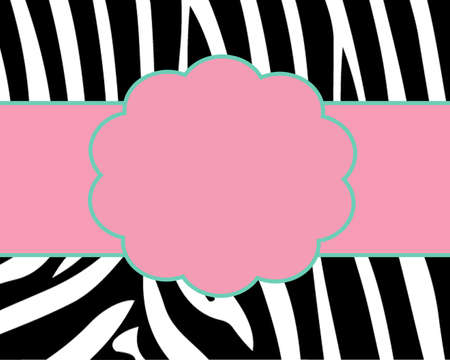Zebra Print Card Template