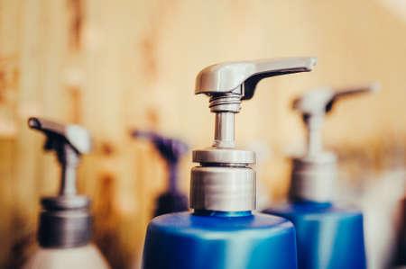 Bottle of liquid soap, shower gel or shampoo. Toned image.