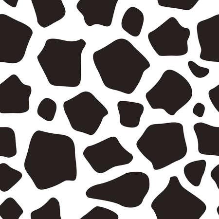 Giraffe seamless pattern black and white vector Archivio Fotografico - 103900081