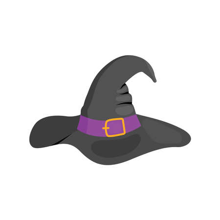 A witch hat on white background