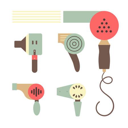 Barber Shop or Hairdresser icons and signpost, sepia tone Ilustração