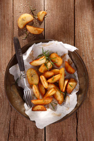 baked potatoes: Baked potatoes with herbs