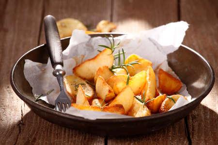 baked potatoes: Baked potatoes with rosemary