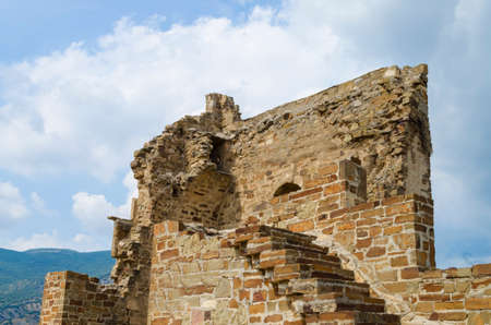 the ruins of the old castle