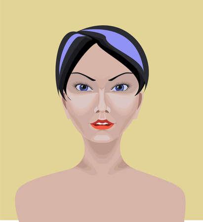 straight path: Asian girl Illustration