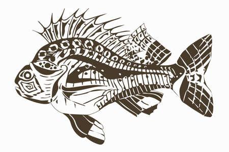 Carp fish beige