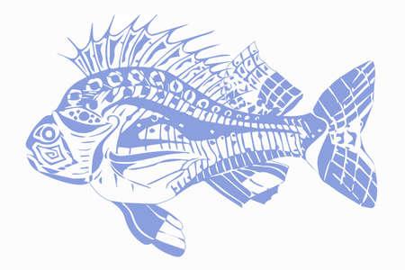 Carp fish blue