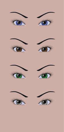 Asian woman eyes