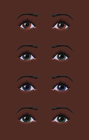 African woman eyes Illusztráció