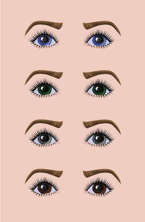 Caucasian woman eyes Illusztráció