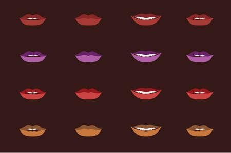 African woman lips Illusztráció