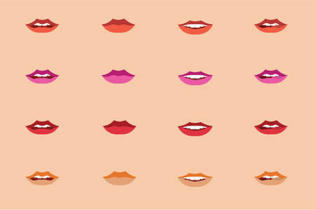 Asian woman lips