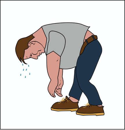 shoelaces: Fat man can not tie shoelaces
