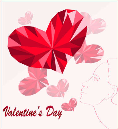 a beautiful picture for Valentines Day card Ilustracja
