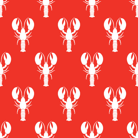 Lobster seamless pattern