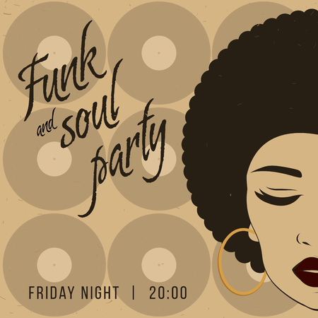 funk: Funk and soul disco party event. Illustration